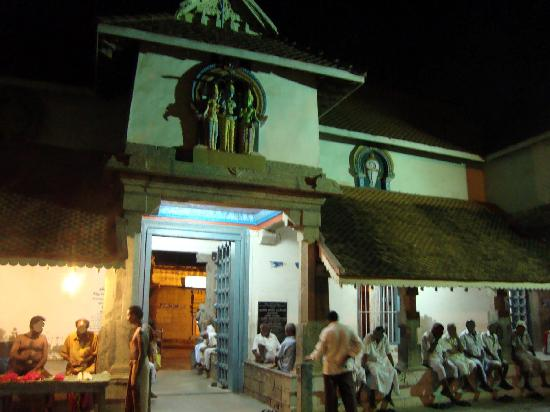 A view of the entrance to the Nagaraja temple at Nagercoil with the entrance to the sanctum sanc