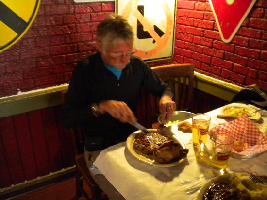 Manny's Original Chophouse: one of the specialties: 24-ounce Porterhouse steak
