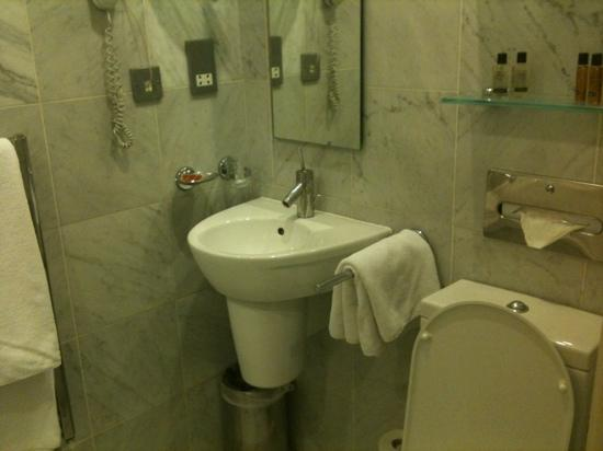Commodore Hotel: bathroom - small but clean and well stocked!