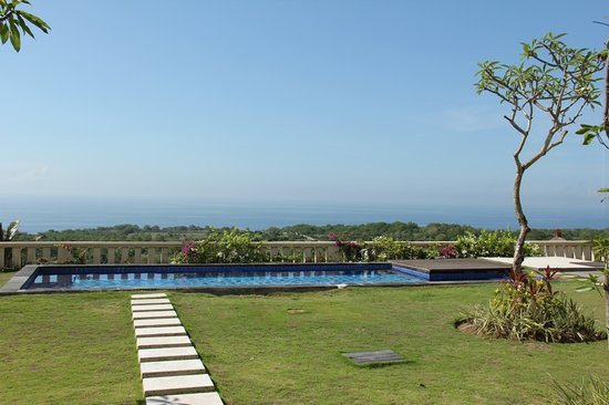 Chateau de Bali Ungasan: View from the villa's gazebo