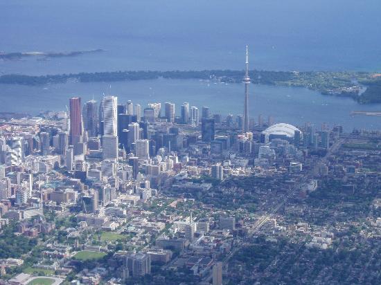 Toronto dall'aereo