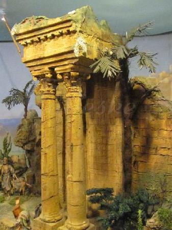 Mechanische Krippe: tempel