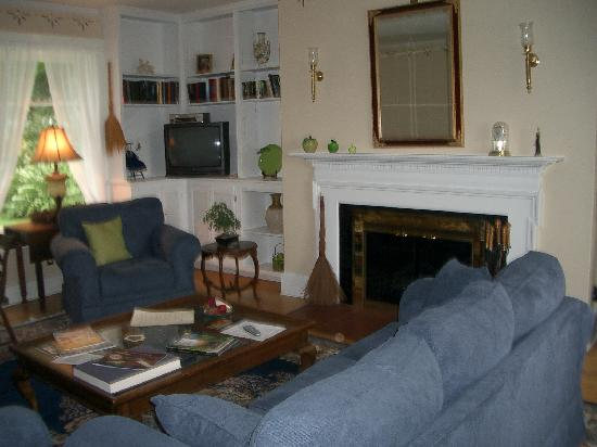 Green Apple Inn: The living room downstairs.