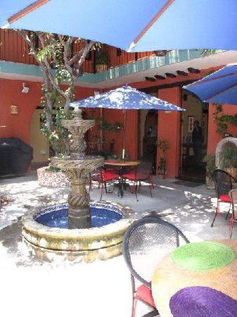 The courtyard of Casa de Leyendas, Award Winning B&B at Fiesta Corner