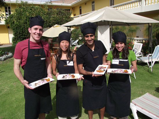 Peruvian Cooking Experience: Graduated, they all prepared their food