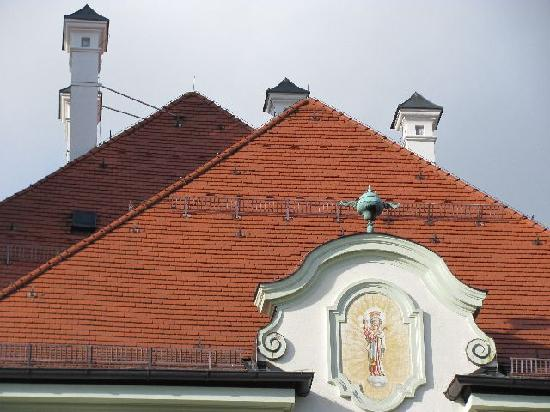 Town Hall: roof and chimneys
