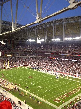 University of Phoenix Stadium: Stadium with Roof Open