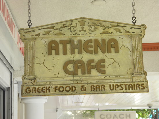 Athena Cafe & Bar: view from the street