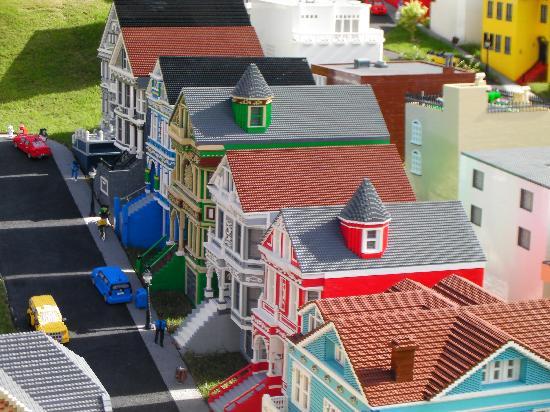 Legoland Florida Resort: San Francisco row houses in LEGO
