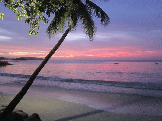 St. James's Club Morgan Bay: Sunset on the beach.