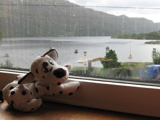 Ardlui Hotel: Looking out over the Loch