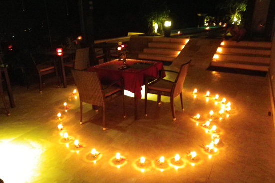 The Puncak: Romantic Candle light  dinners