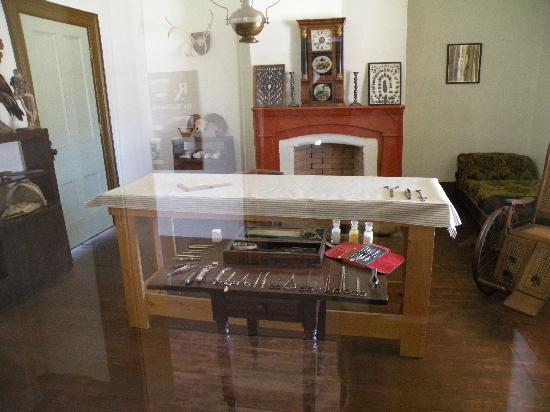 Fort Verde State Historic Park : An example of interior furnishings...this was in the Dr's quarters