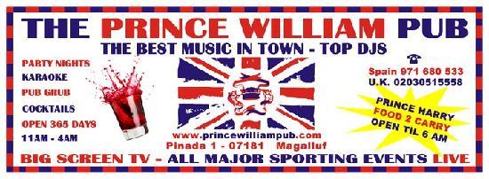The Prince William Pub: logo 2011