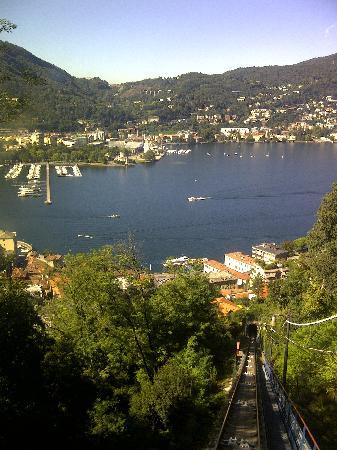 Lake Como: The Funicular ride to the top