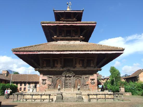 Nepal Hiking : A Hindu temple near Banepa, Nepal