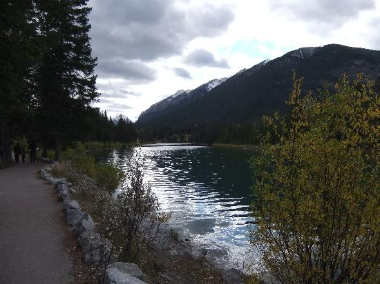 ‪هومستيد إن بانف: Bow river - river side walk just a minutes walk from hotel‬