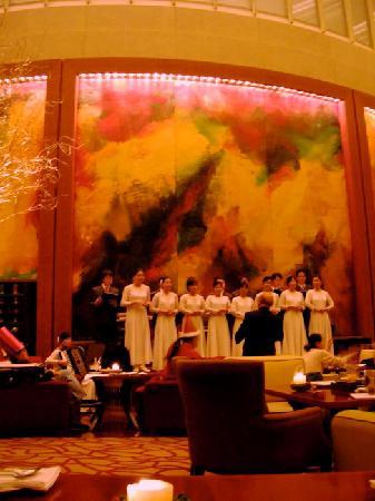 Patio Lounge Grand Hyatt: Beim Weihnachten gibt's auch Choral !