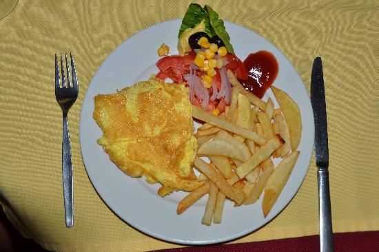 Hotel Kasbah Lamrani : Omelette du fromage