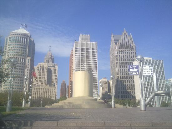 Skyline von Detroit Downtown