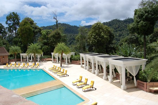 Pool at The Chateau Spa & Organic Wellness Resort