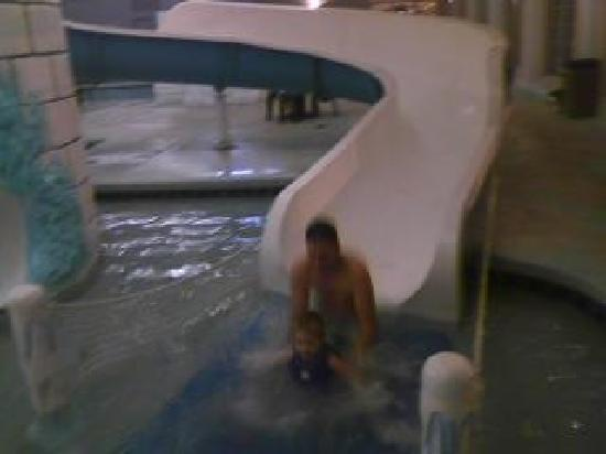 Wintergreen Resort & Conference Center: Daddy and Logan going down the slide