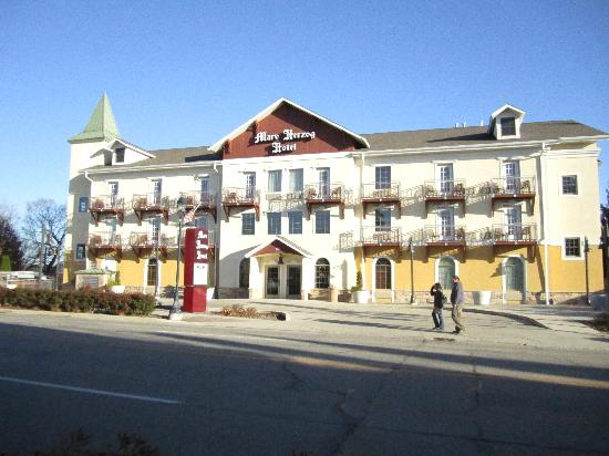 The Marv Herzog Hotel: The front of the hotel