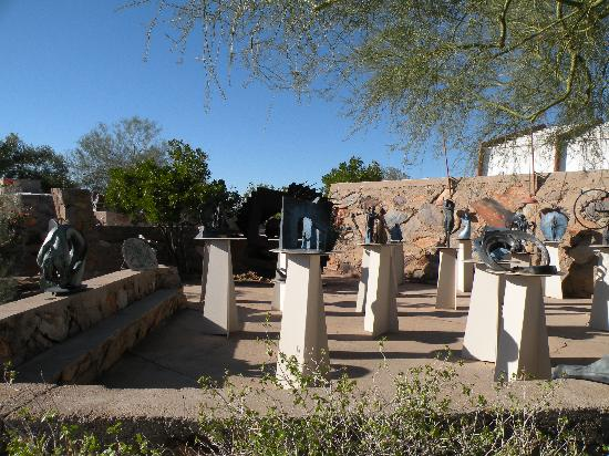 Scottsdale, AZ: Sculptures on the grounds of Taliesin West