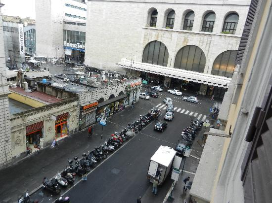 Hotel Gioberti View From Room Of Termini Station