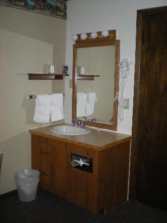 Alpine Motel: Waschtisch (im Zimmer)