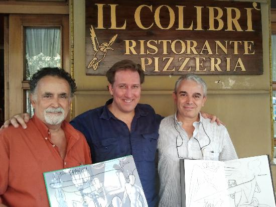 Il Colibri': con Mark Kostabi