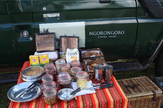 andBeyond Ngorongoro Crater Lodge: Bush Breakfast