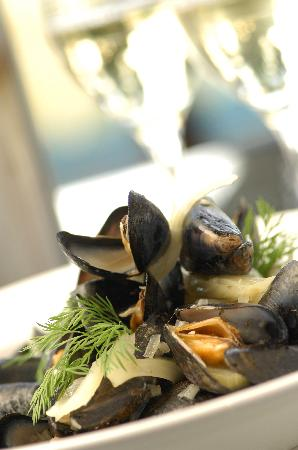 The Bay Restaurant : Fresh local shellfish