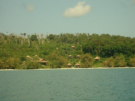 Koh Rong, Καμπότζη: le lodge au loin