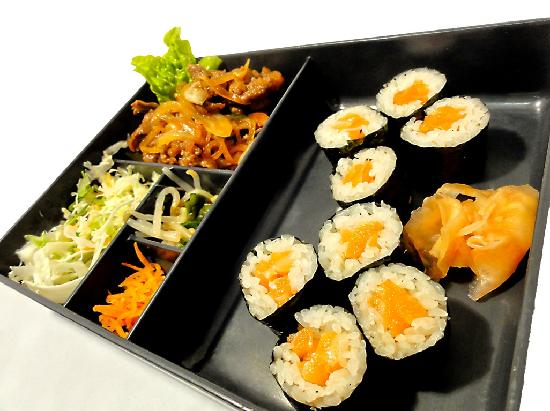 Ohnamiya Japanese Takeaway: Beef Yakiniku and Salmon Sushi Box
