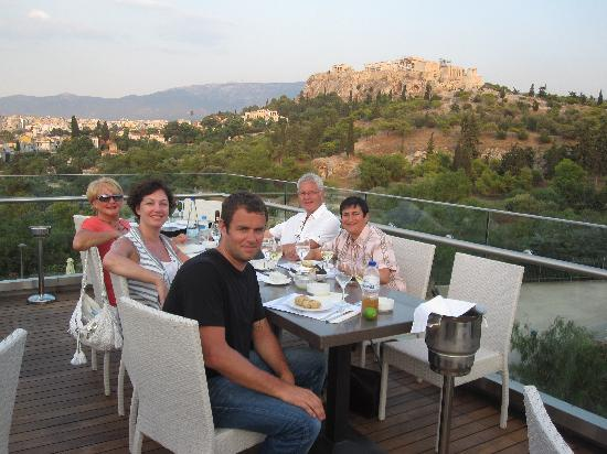 Chic Hotel: A memorable evening watching sunset over the Acropolis