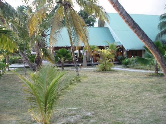 Indian Ocean Lodge: Vue sur le restaurant