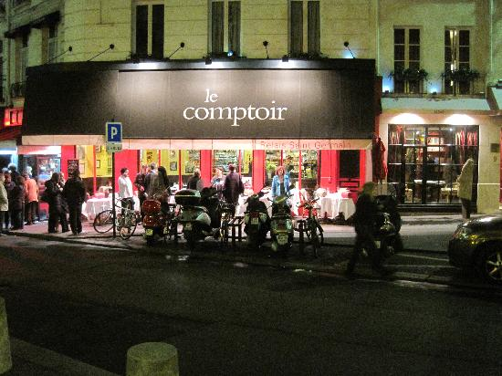 Le comptoir from across the street picture of le - Le comptoir paris restaurant ...