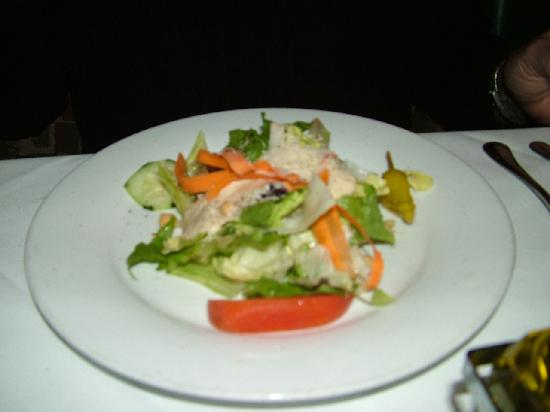 Sicilian Ristorante : House salad with cream Italian Herbs Dressing