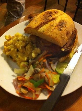Opal Mae's: prime rib sandwich