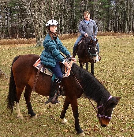Arrowmont Stables: Ava and Gregory on the trails