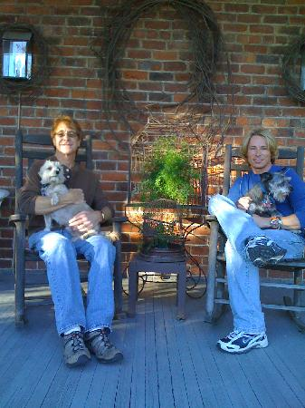 The Reynolds Mansion: On the porch at the mansion