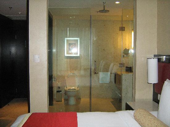 Courtyard Hangzhou Wulin: Looking into the bathroom - most amazing shower  ever!
