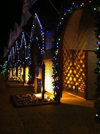 Busch Gardens: Entrance/exit at night
