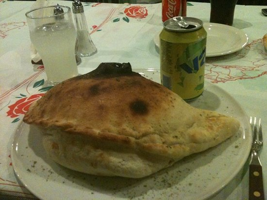 Sergio's: a small ham and mushroom calzone uumm nothing small about it except price at 8€