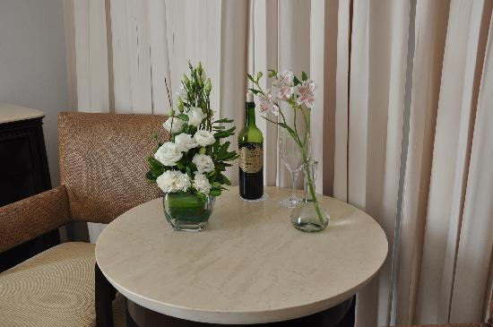 complimentary vine and flowers every day!!!!