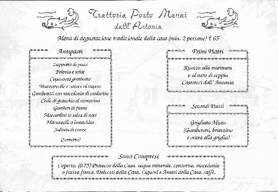 Mira, Italia: menu