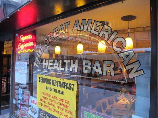 Great American Health Bar: Looking in