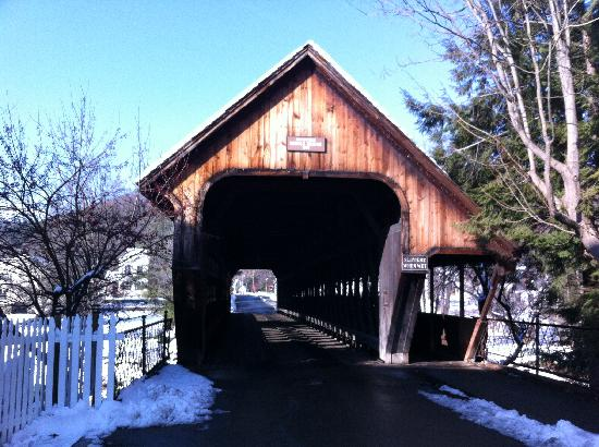 Woodstock Town Crier: Middle Bridge in Woodstock, VT. This is located near the center of the town.