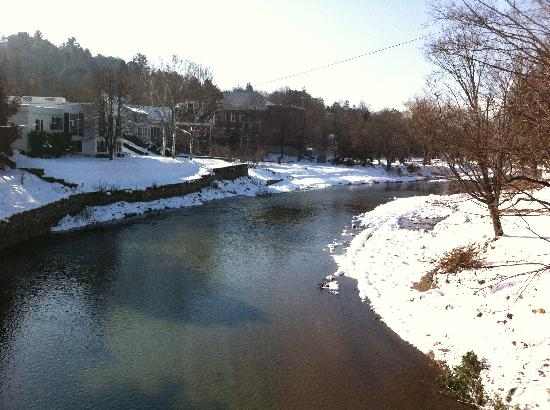 Woodstock Town Crier: River running through Woodstock, VT. This picture was taken from the right side of Middle Bridge